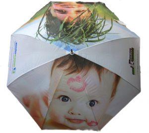 De Kinderkamer paraplu met fotografische beelden
