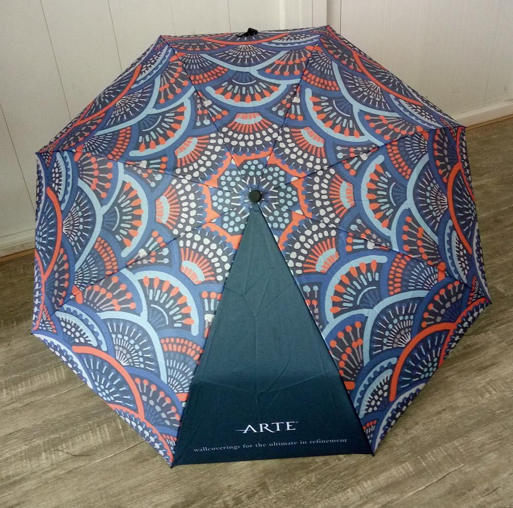 Arte paraplu blauwe bovenzijde